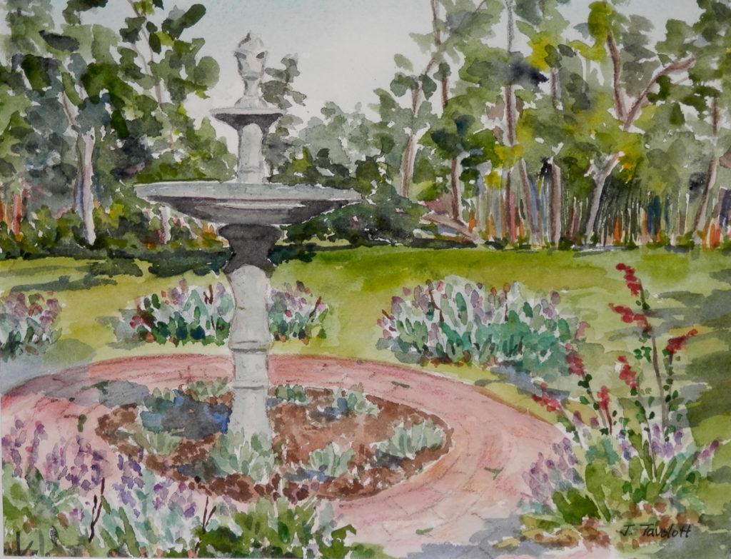 <h4>Post Morrow Garden</h4> <strong>Artist: </strong> Joan Tavolott<br /> <strong>Size:</strong> 11x14<br /> <strong>Medium:</strong> Watercolor<br /> <strong>Price:</strong> $250<br />